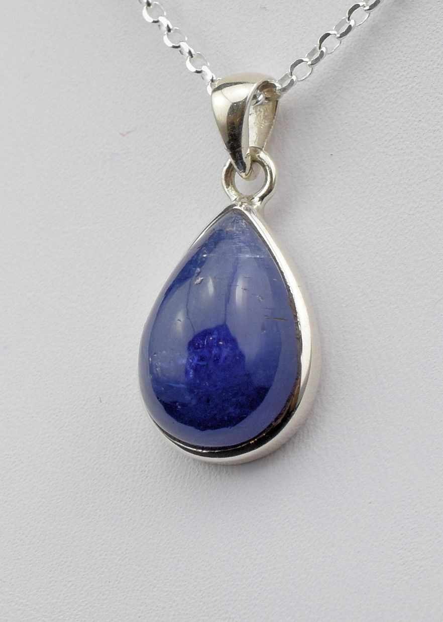 Pds 0585 Tanzanite Pendant in Sterling Silver