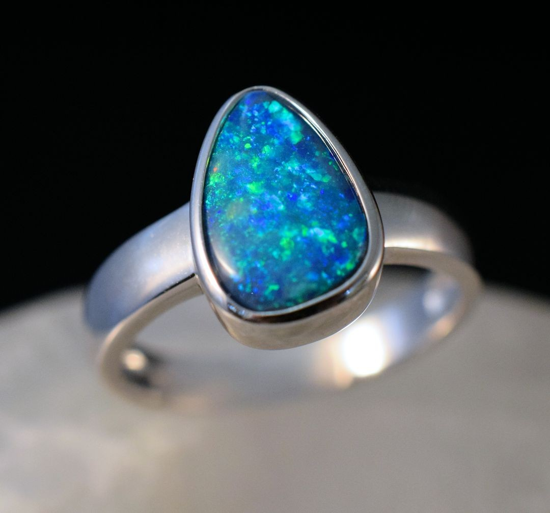 Rs0175 Opal Doublet Ring (SOLD)