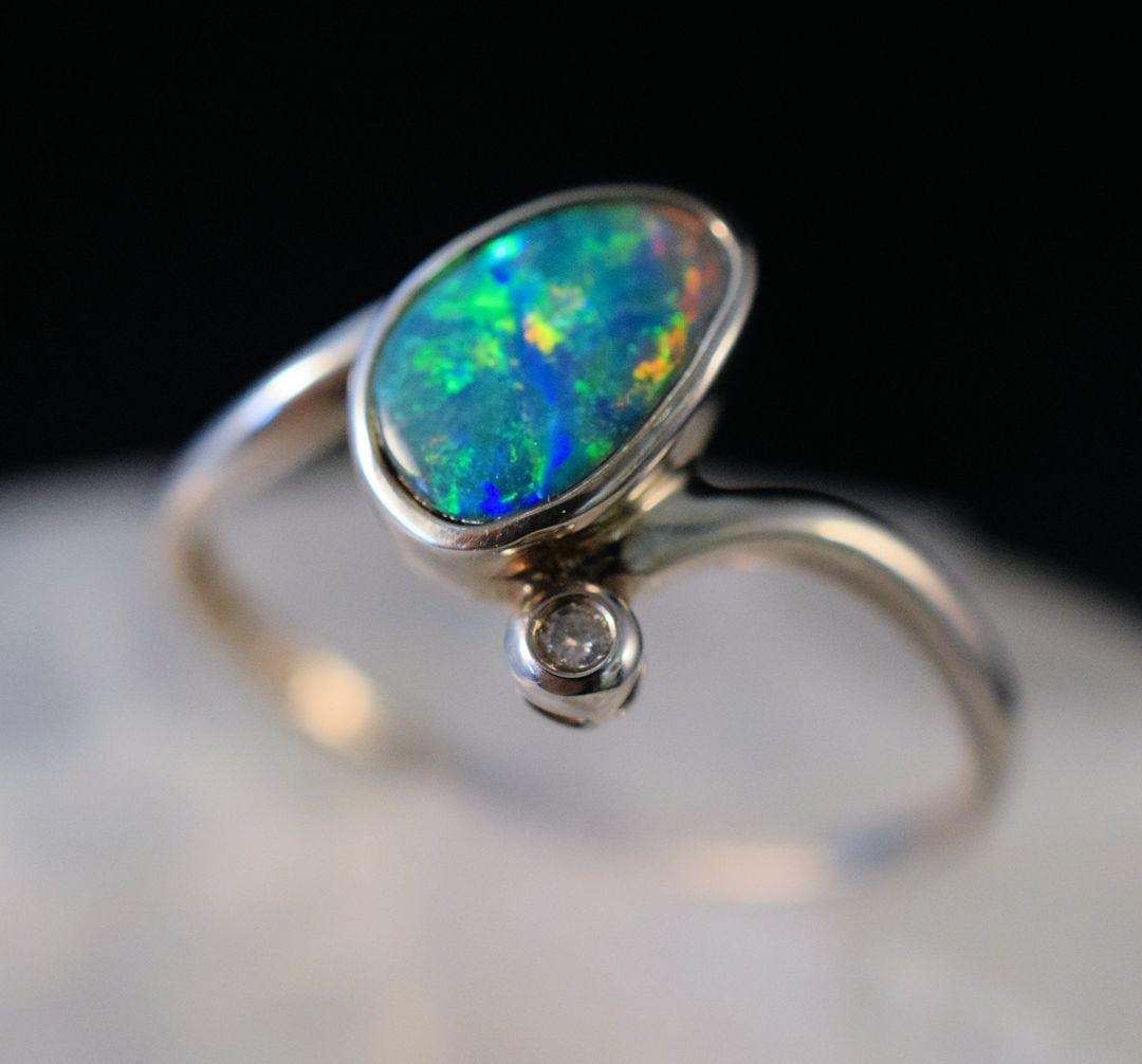 Rs0176 Opal Doublet Ring (SOLD)