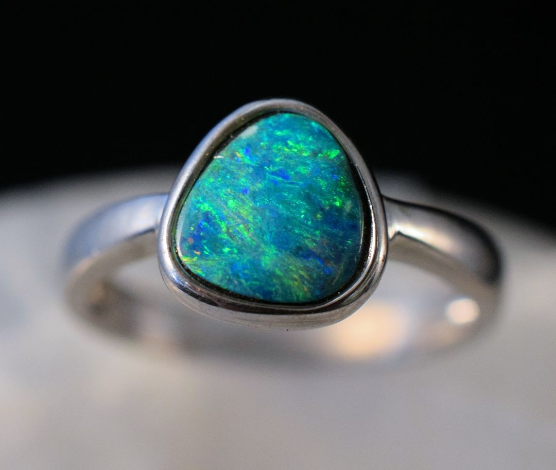 Rs0177 Opal Doublet Ring (SOLD)