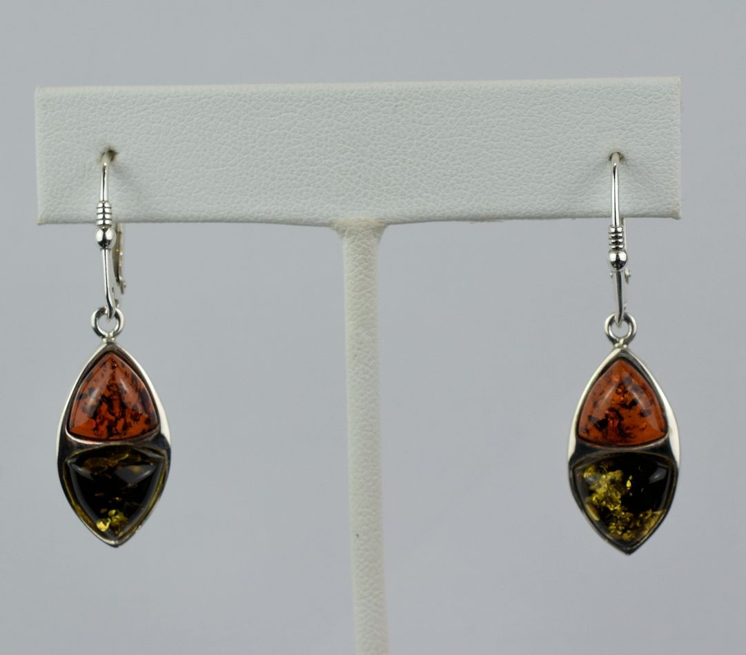 ES0254 Amber Two Color Earrings (SOLD)