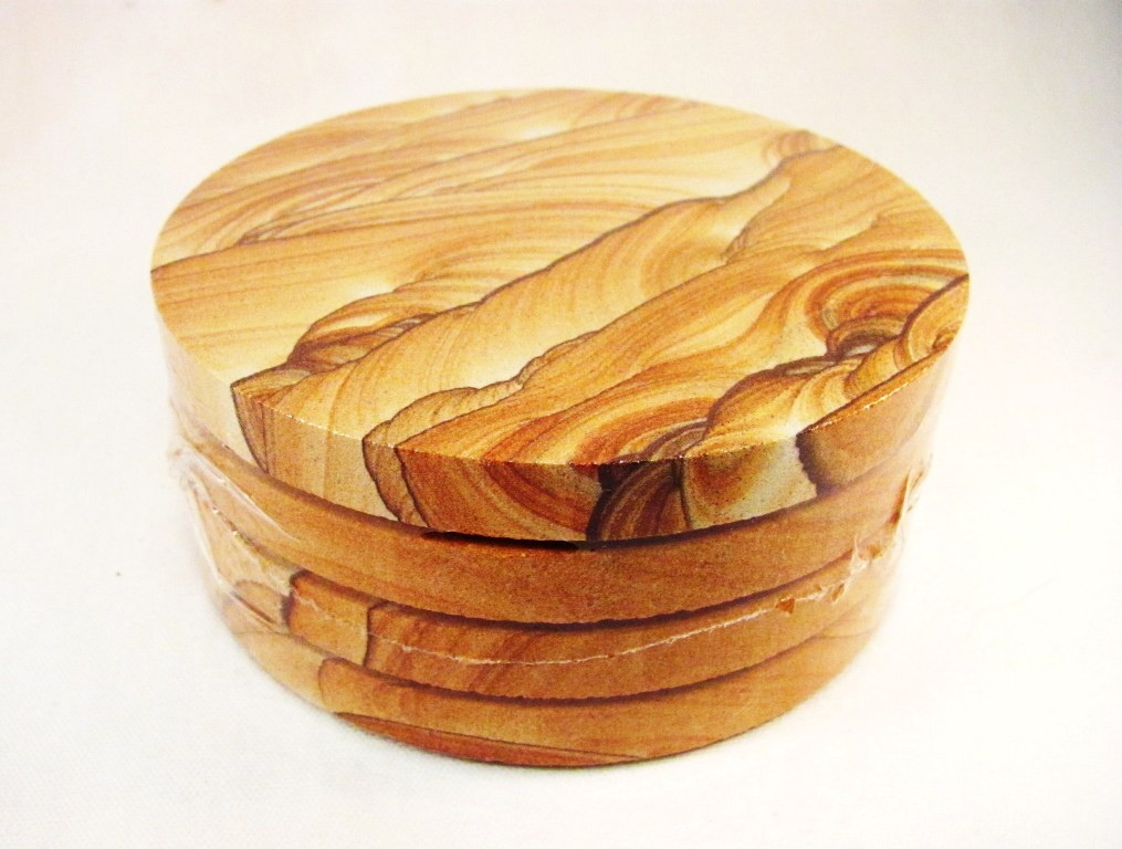 HD0086 - Set of Four Sandstone Coasters (SOLD)