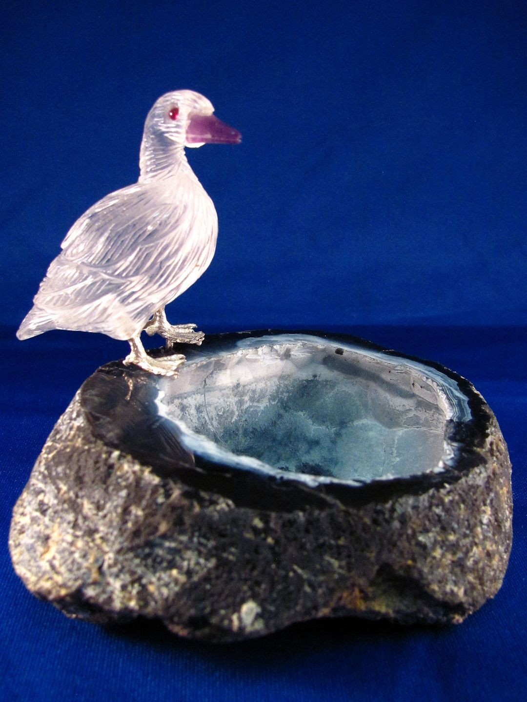 HD0200 Quartz and Amethyst Duck Duck by Peter Mueller (SOLD)