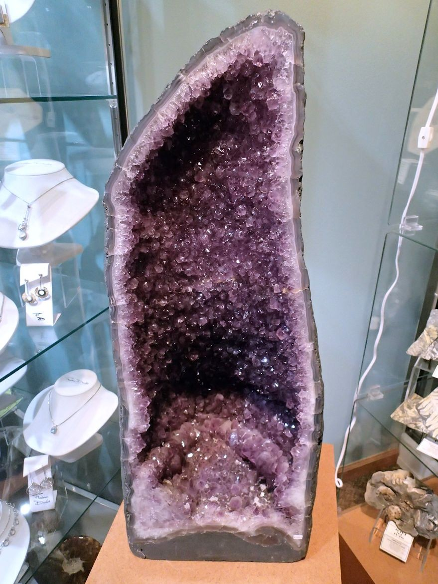"HD0193 Amethyst ""cathedral"" geode, Brazil, 28"" high (SOLD)"