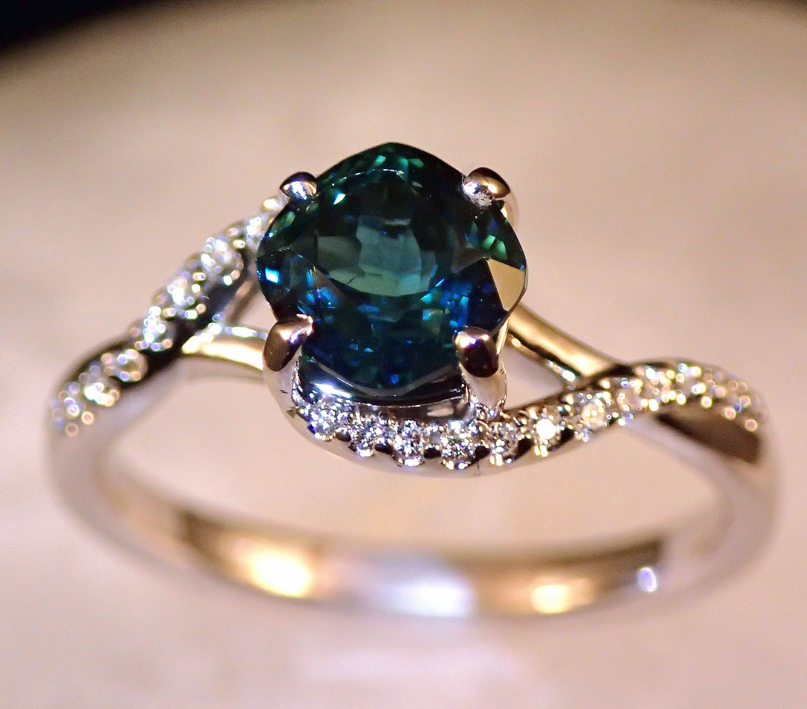 il green diamond rose rings sapphire oval teal ring eidelprecious campari engagement peacock listing fullxfull gold by