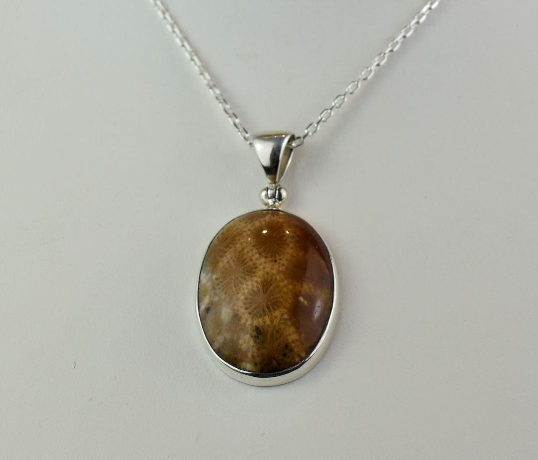 PDS0542 Fossil Coral in Sterling Silver