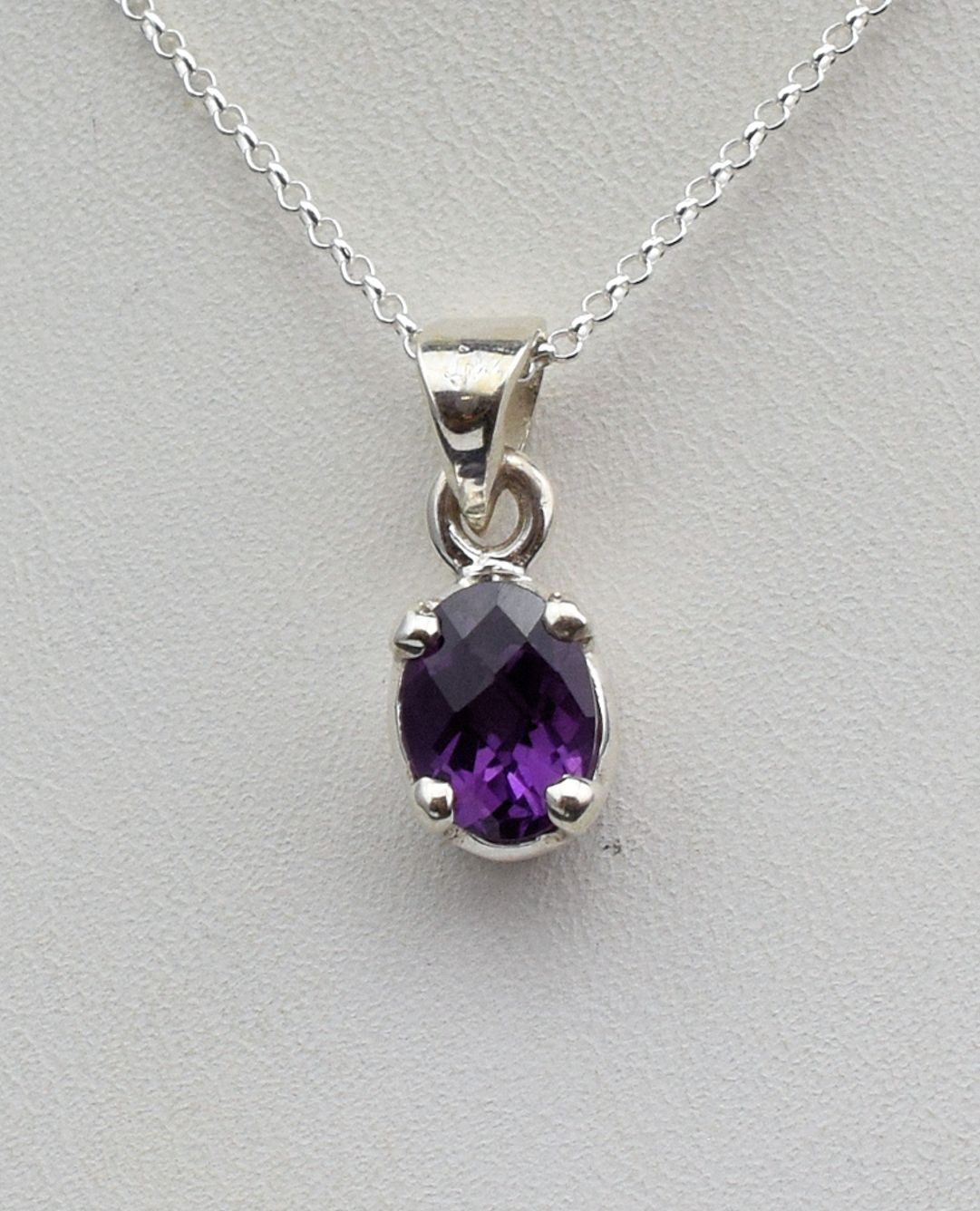 Pds0609 Amethyst Pendant in Sterling Silver