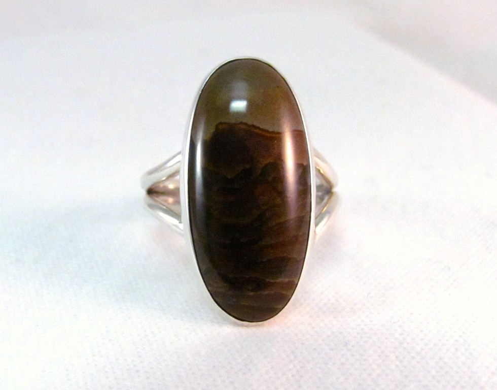 RS0094 - Biggs Jasper Ring in Sterling Silver