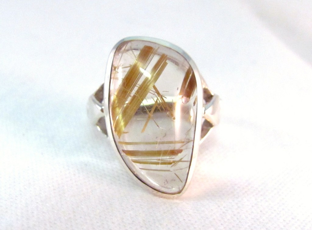 RS0096 - Rutilated Quartz Ring set in Sterling Silver (SOLD)