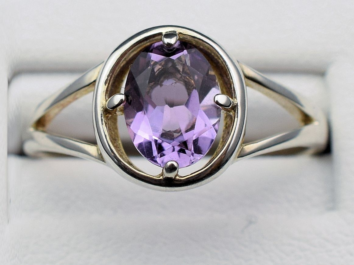 Rs 0167 amethyst ring in sterling silver (SOLD)