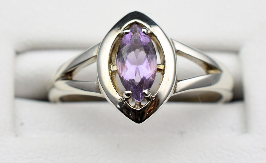 Rs 0170 Amethyst Ring in Sterling Silver (SOLD)