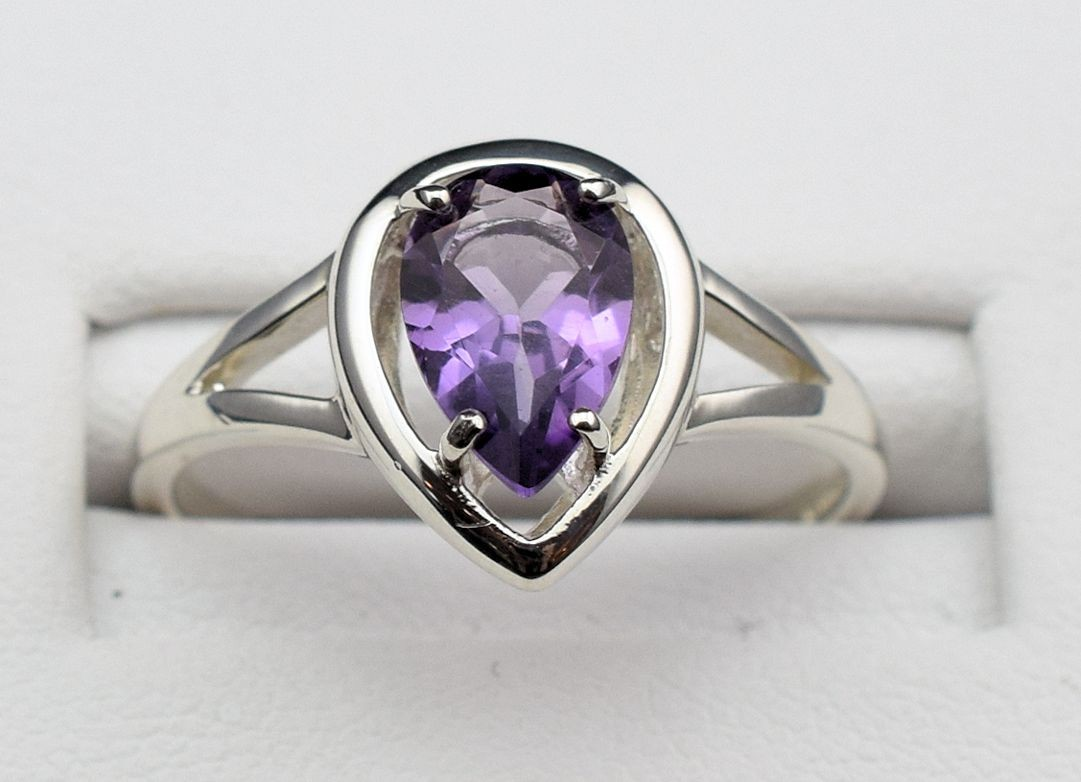 Rs 0171 Amethyst Ring in Sterling Silver (SOLD)