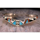 bna0032 Multi Stone Inlay Bracelet