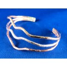 BS0083 - Cuff Bracelet in Rose Gold Plate, Yellow Gold Plate, and Sterling Silver