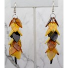 Es 0279 Amber dangle earrings