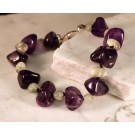 Bs0121 Amethyst and Prehnite Bracelet