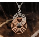 Pds0483 Sterling Silver and Rose Gold Pendant by Frederic Duclos (SOLD)