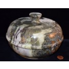 Hd0255 Peacock Marble Bowl With Lid (SOLD)