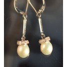 Es0246 Pearl and Diamond Earrings
