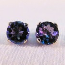 EG0010 - Tanzanite and White Gold Post Earrings