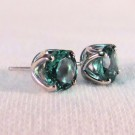 EG0013 - Mint Tourmaline and White Gold Post Earrings