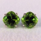 EG0015 - Peridot and White Gold Post Earrings(SOLD)
