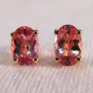 EG0019 - Imperial Topaz and Yellow Gold Post Earrings (SOLD)