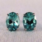 EG0026 - Apatite and White Gold Post Earrings (SOLD)