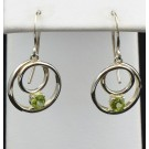 Es 0281 Peridot and Sterling Silver Earrings
