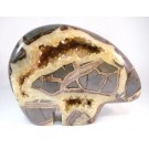 HD0104 - Large Septarian Concretion Bear Carving