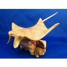 HD0167 - Chinaberry Wood Stingray Carving (SOLD)