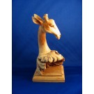 HD0169 - Chinaberry Wood Giraffe Carving (SOLD)