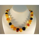 NS0064 - Multi-Color Amber Necklace (SOLD)