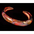 BS0110 Art Glass Bangle Bracelet by Kevin O'Grady