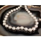 ns0089 White Pearl Strand with a Sterling Silver Clasp