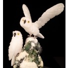 HD0181 - Snowy Owls in Quartz and Onyx by Peter Mueller