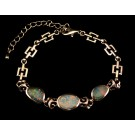 BS0112 - Sterling Silver and Opal Link Bracelet (SOLD)