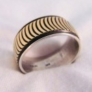 RNA0032 Sterling Silver and Yellow Gold Band Ring (SOLD)