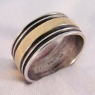 RNA0034 - Sterling Silver and Yellow Gold Men's Ring (SOLD)