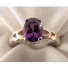 RS0151 - Amethyst Ring in Sterling Silver