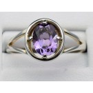 Rs 0167 amethyst ring in sterling silver