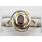Rs 0168 Garnet Ring in Sterling Silver